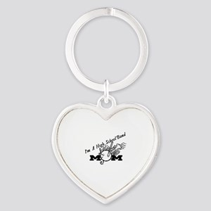 I'M A HIGH SCHOOL BAND MOM Heart Keychain